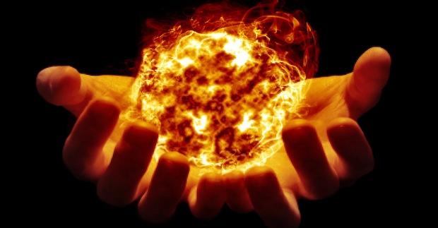 O byosen e quando o calor da energia nos faz inchar as mãos