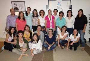 Praticantes da Meditação Terapêutica Integral em Setembro, com o tema - Construir um Jardim para a Alma