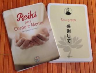 Reiki para o Corpo e Mente é um conjunto de 27 cartas técnicas para a reflexão e prática de Reiki e Karuna.