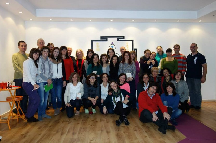 O grupo no CENIF Guimarães, apresentação por Sílvia Oliveira e João Magalhães