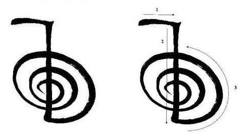 desenhar os símbolos de Reiki