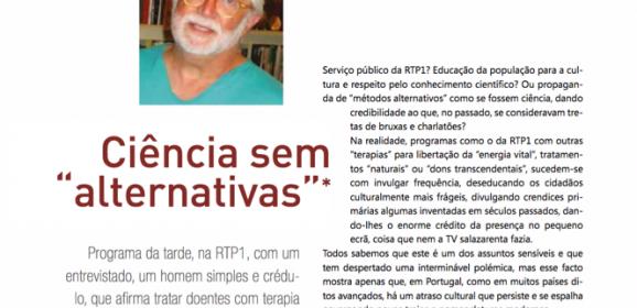 """Resposta a Ciência sem """"Alternativas"""" na revista da Ordem dos Médicos"""