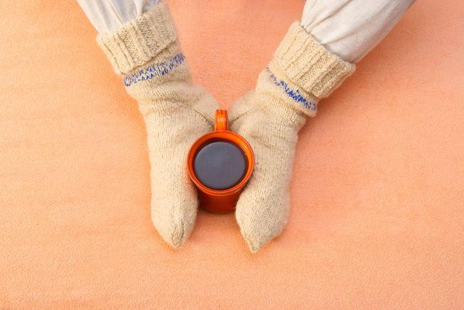 Tratar o Chakra Raiz quando os pés estão frios