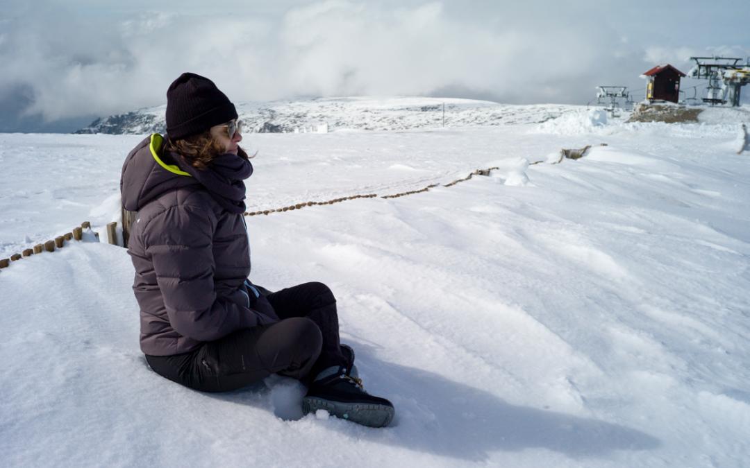 Praticar Reiki na neve e sentir Reiki numa serra