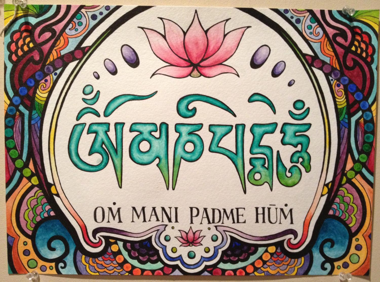 A recitação do mantra Om Mani Padme Hum
