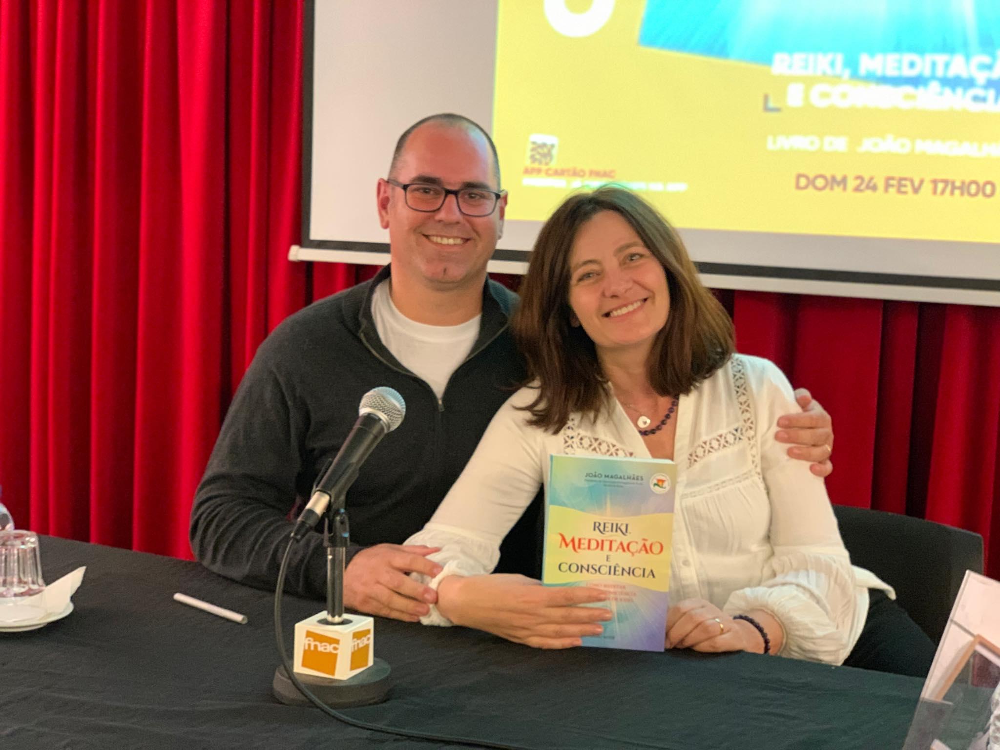 Apresentação de Reiki, Meditação e Consciência na FNAC de Guimarães